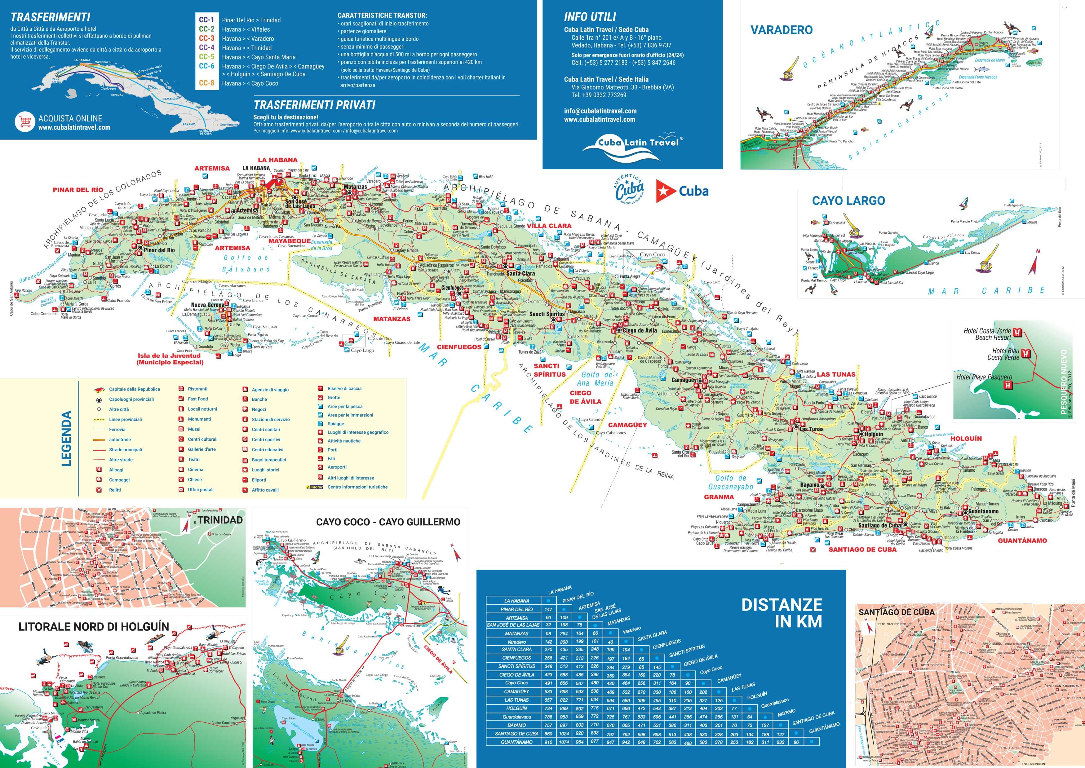 Cartina Italia Stradale Da Stampare.Guida E Mappa Stradale Di Cuba